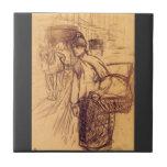 Estudio para la lavadora por Toulouse-Lautrec Teja Ceramica