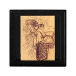 Estudio para la lavadora por Toulouse-Lautrec Caja De Regalo