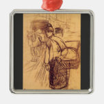 Estudio para la lavadora por Toulouse-Lautrec Adorno De Navidad