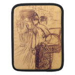 Estudio para la lavadora por Toulouse-Lautrec Funda Para iPads