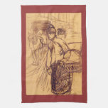 Estudio para la lavadora por Toulouse-Lautrec Toalla De Cocina