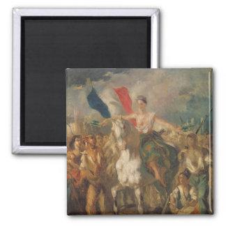 """Estudio para la """"libertad"""", 1830 imán cuadrado"""