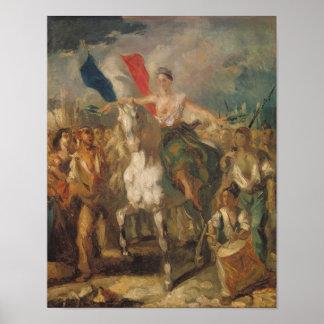 """Estudio para la """"libertad"""", 1830 póster"""