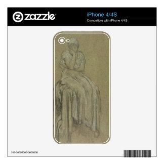 Estudio para la soledad, c.1890 (tiza en el papel) skins para eliPhone 4S