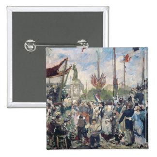 """Estudio para """"Le 14 Juillet 1880"""", 1880-84 Pin Cuadrada 5 Cm"""