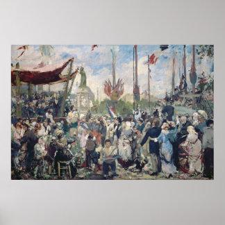 """Estudio para """"Le 14 Juillet 1880"""", 1880-84 Póster"""