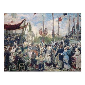 "Estudio para ""Le 14 Juillet 1880"", 1880-84 Tarjeta Postal"