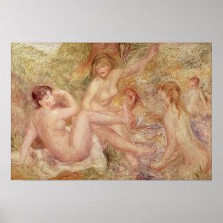 Estudio para los bañistas grandes 1885-1901 poster