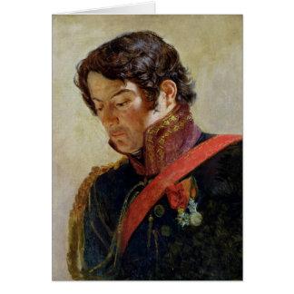 Estudio para un retrato de barón Dominique Larrey Tarjeta De Felicitación
