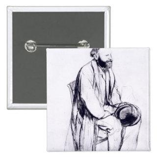 Estudio para un retrato de Manet Pin Cuadrada 5 Cm
