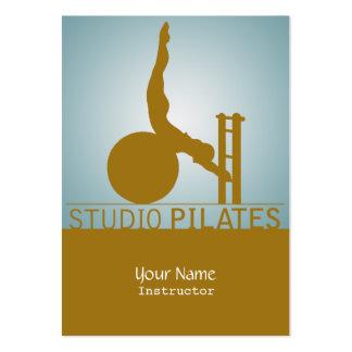 Estudio Pilates - negocio, tarjeta del horario Tarjetas De Visita Grandes
