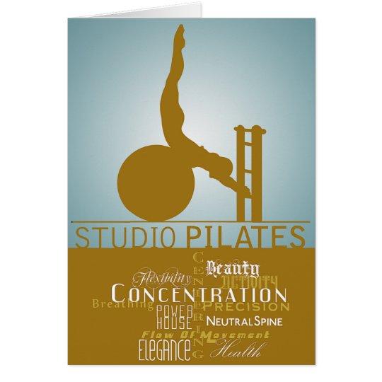 Estudio Pilates - tarjeta, saludando Tarjeta De Felicitación