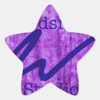 Estudio Purlple/marina de guerra del Wordsmith Pegatina En Forma De Estrella