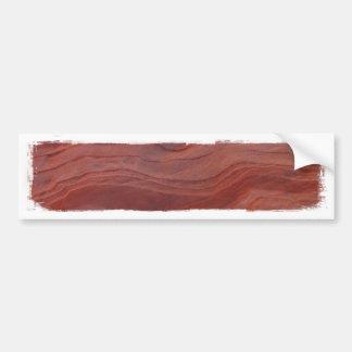 Estudio rojo de la capa de la roca etiqueta de parachoque