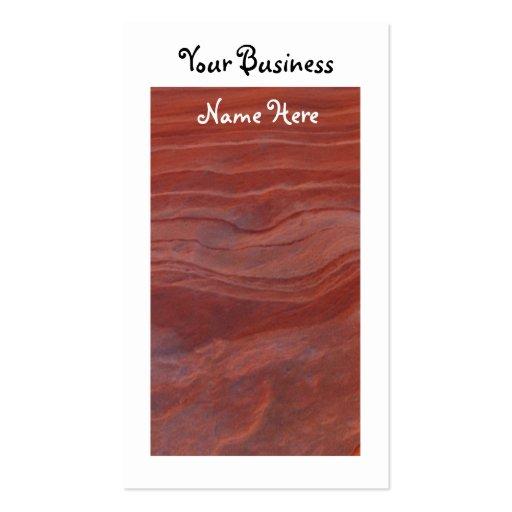 Estudio rojo de la capa de la roca; Promocional Tarjetas De Visita