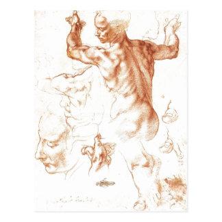 Estudio sumario para la sibila libia, 1511, Metrop Tarjeta Postal