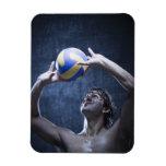 Estudio tirado de jugar del jugador de voleibol imanes flexibles