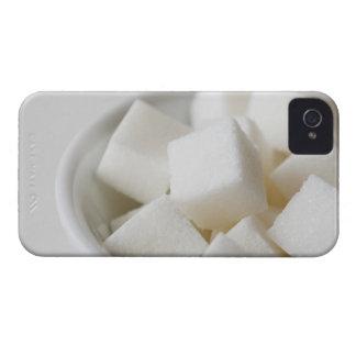 Estudio tirado de los cubos del azúcar en cuenco Case-Mate iPhone 4 cárcasa