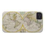 Estudio tirado de mapa del mundo antiguo iPhone 4 cobertura