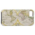 Estudio tirado de mapa del mundo antiguo iPhone 5 fundas