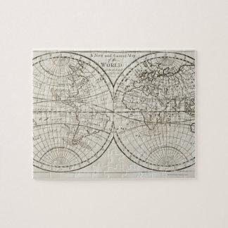 Estudio tirado del mapa del mundo antiguo 3 puzzle