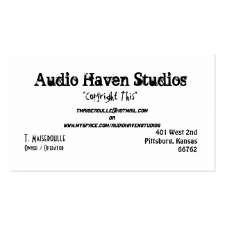 Estudios audios del asilo, T. Maiseroulle, dueño/d Tarjeta De Negocio