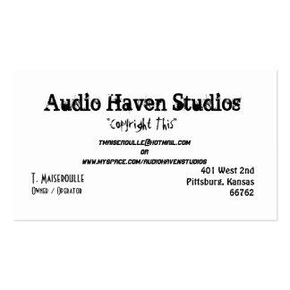 Estudios audios del asilo, T. Maiseroulle, Tarjetas De Visita