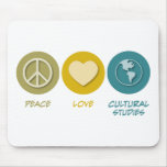 Estudios culturales del amor de la paz tapetes de ratón