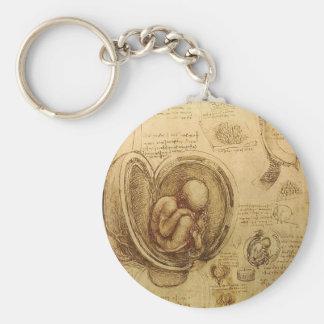 Estudios de embriones llavero redondo tipo pin