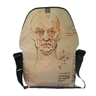Estudios de las proporciones de la cara y del ojo, bolsa de mensajeria