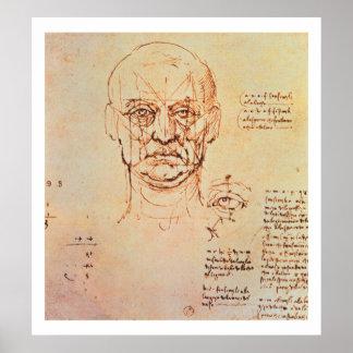 Estudios de las proporciones de la cara y del ojo, póster