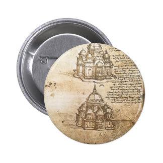 Estudios de Leonardo Vinci- de los edificios centr Pins