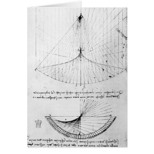 Estudios del constante de los espejos cóncavos, pa tarjeta de felicitación