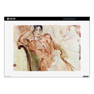 Estudios del retrato de Jeanne Pontillon por Moris Calcomanías Para 38,1cm Portátiles