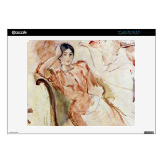 Estudios del retrato de Jeanne Pontillon por Moris Portátil Calcomanía