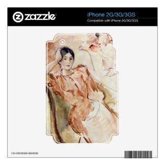 Estudios del retrato de Jeanne Pontillon por Moris Skins Para iPhone 3GS