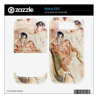 Estudios del retrato de Jeanne Pontillon por Moris Nokia E63 Skin