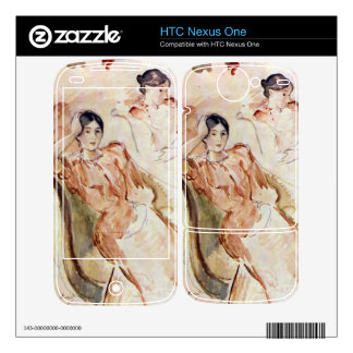 Estudios del retrato de Jeanne Pontillon por Moris HTC Nexus One Skin