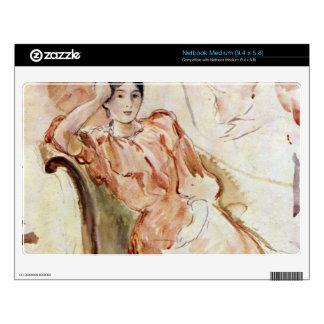 Estudios del retrato de Jeanne Pontillon por Moris Netbook Calcomanías