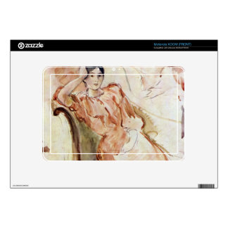 Estudios del retrato de Jeanne Pontillon por Moris Skins Para Motorola XOOM