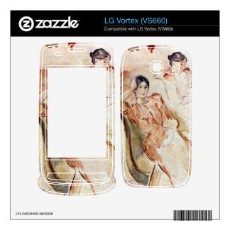 Estudios del retrato de Jeanne Pontillon por Moris LG Vortex Skin