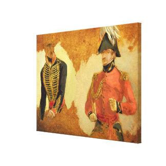 Estudios del uniforme real de la artillería del ca impresión en lienzo estirada