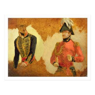 Estudios del uniforme real de la artillería del postal