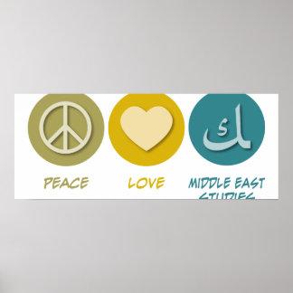Estudios medio-orientales del amor de la paz impresiones