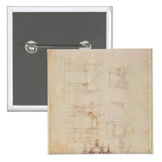 Estudios para la composición arquitectónica pin cuadrada 5 cm