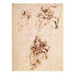 Estudios para Madonna con un gato, c.1478-80 Tarjetas Postales