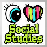 Estudios sociales del ojo del amor brillante del c impresiones