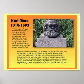 Estudios sociales, historia, Karl Marx Póster