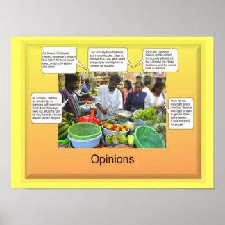 Estudios sociales, opiniones póster