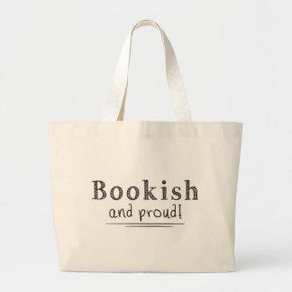 Estudioso y orgulloso bolsa tela grande